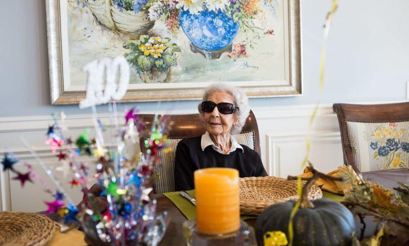 Granny celebrating her 100th birthday