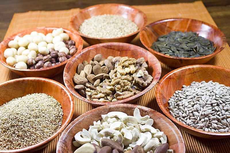 Einweichzeiten von Saaten und Nüssen