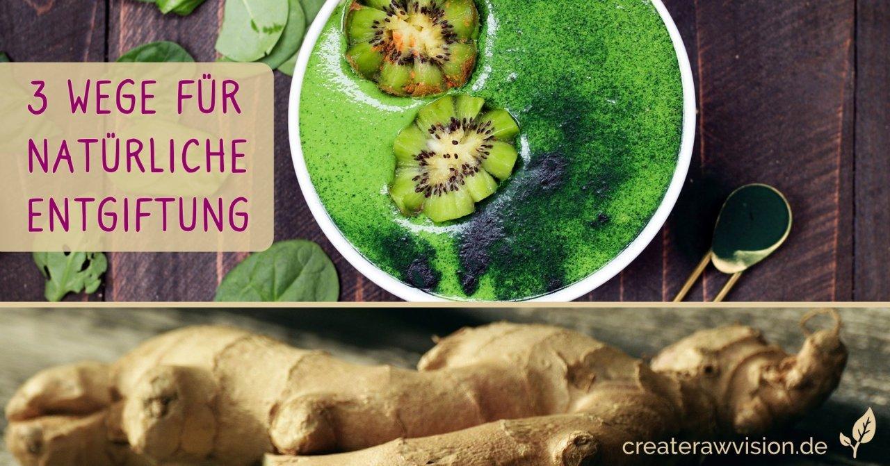 Grüner Smoothie, Ingwer für Entgiftung