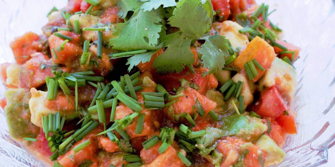 Feurige Rohkost Papaya-Salsa