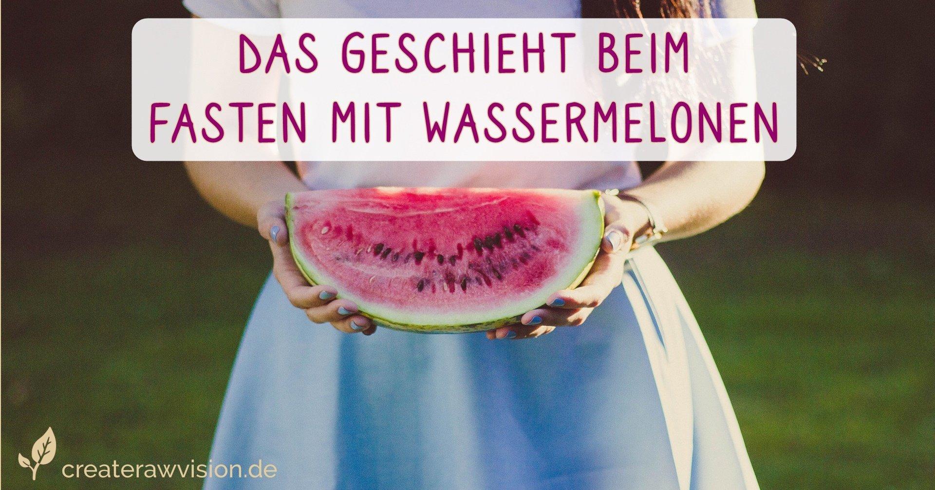 Wassermelone für Wassermelonen Fasten