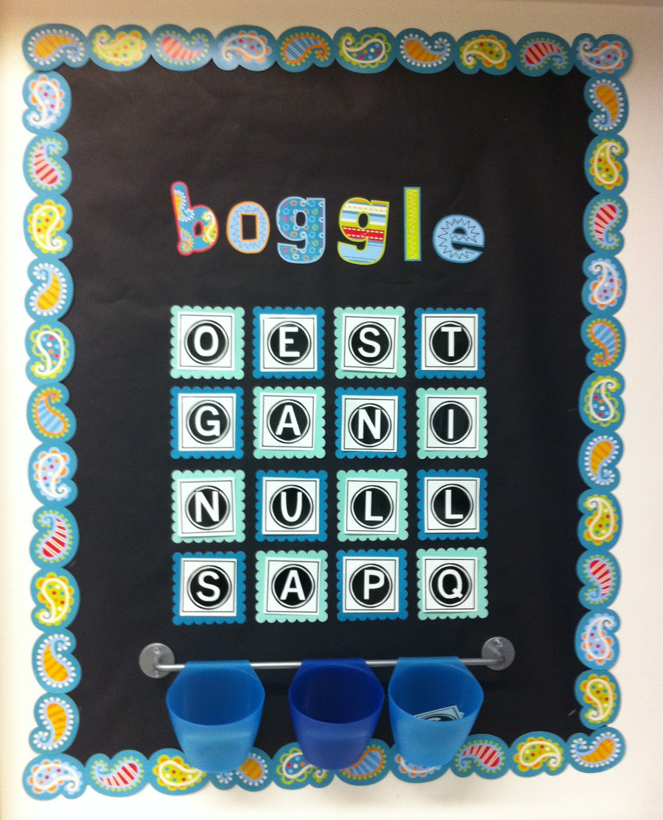 Boggle Board W Printable