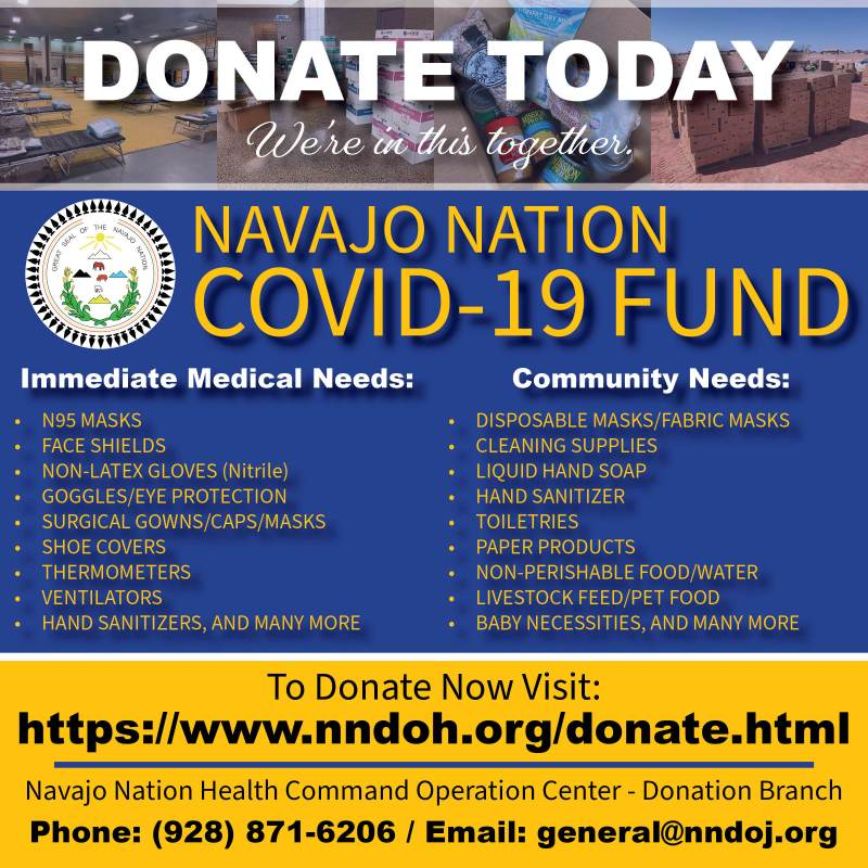 Donate to The Navajo Nation today.