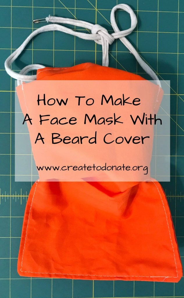 How to make a face mask with a beard cover