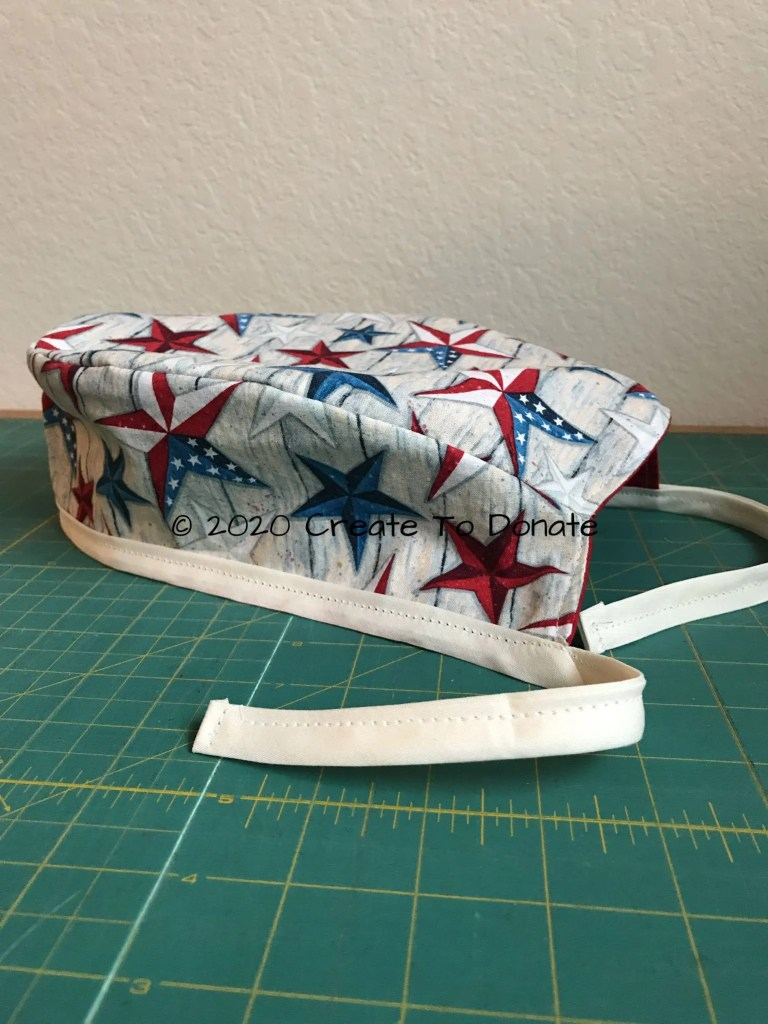 Finished reversible scrub caps Create To Donate