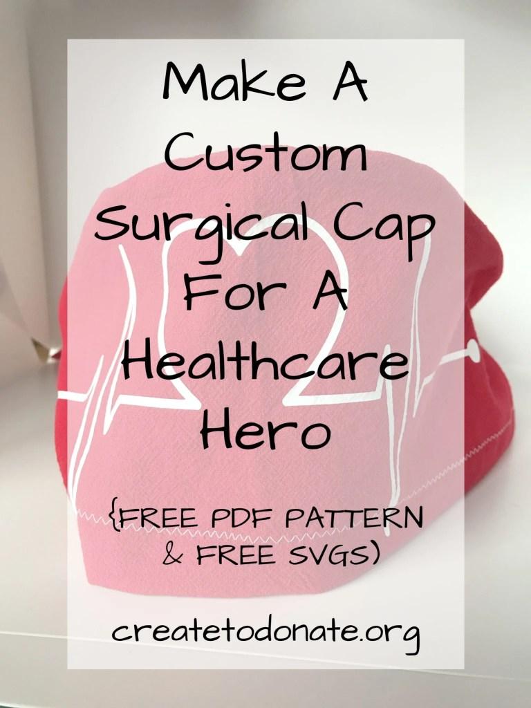 Free scrub cap pattern and free svg PIN