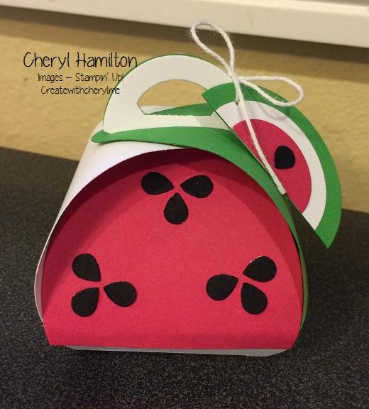Create With Cheryl Watermelon Curvy Box