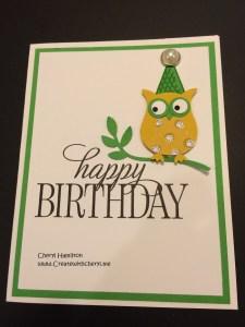 Createwithcheryl Owl Birthday