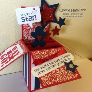 Star Card in a Box Create With Cheryl