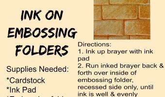 #SSINKTC48:  Ink on Embossing Folders