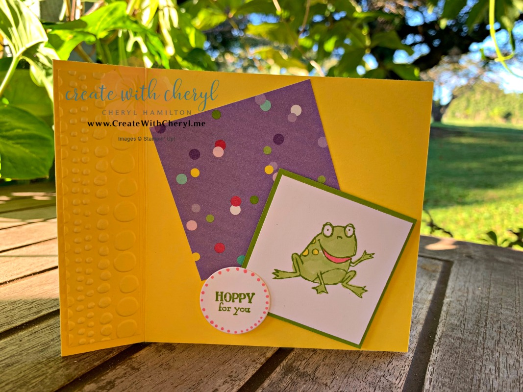 So Hoppy Together Fun Fold #createwithcheryl #stampinup #saleabration
