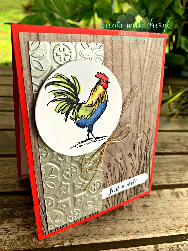 #createwithcheryl #hometoroost #countryliving #stampinup