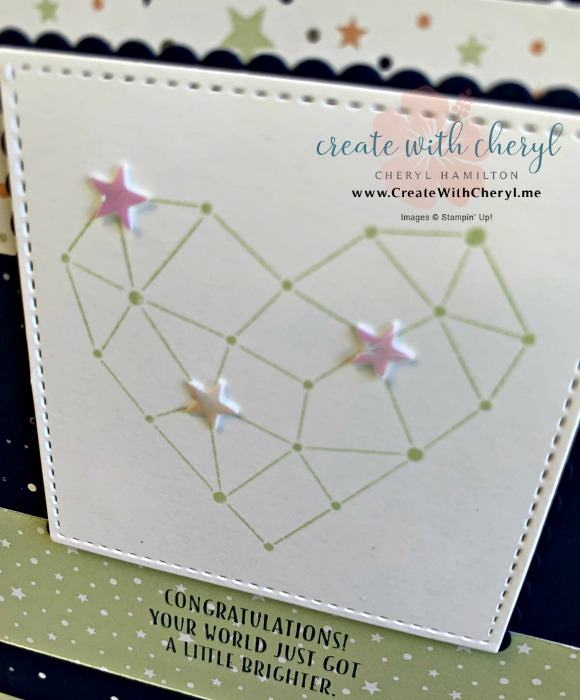 Baby Card #createwithcheryl #twinkletwinkle #babycard