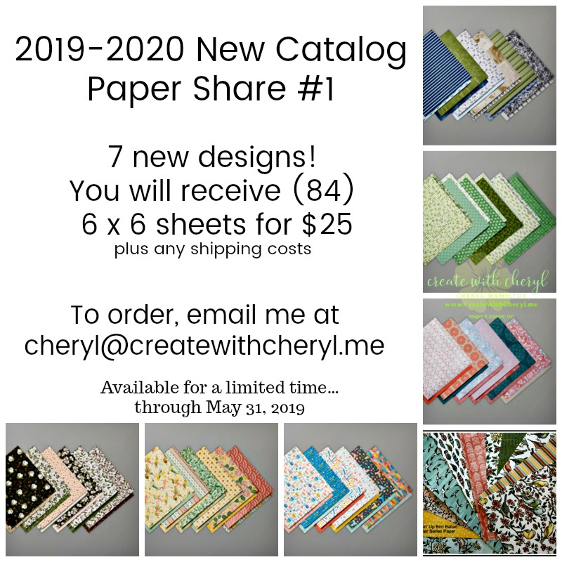 #createwithcheryl #papershare
