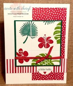 Delft Tile Card #CreateWithCheryl #tropicalchic