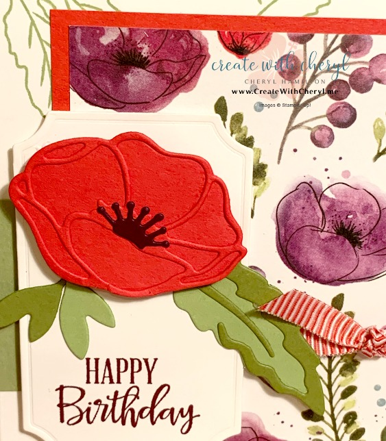 Painted Poppies #createwithcheryl #handmadecards