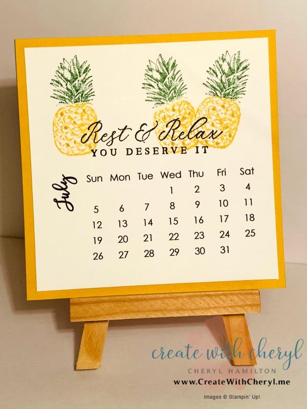 July 2020 Calendar#cherylhamilton #createwithcheryl #stampinup #rubberstamping #diy #crafts #papercrafting #handmadecards #papercrafter #craftblogger #simplestamping #tropi8cal