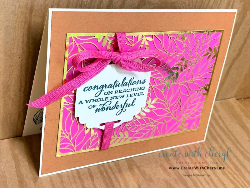 Cheryl Hamilton Magenta & Cinnamon Card with Gold DSP