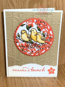 Bird Thank You Card Cheryl Hamilton