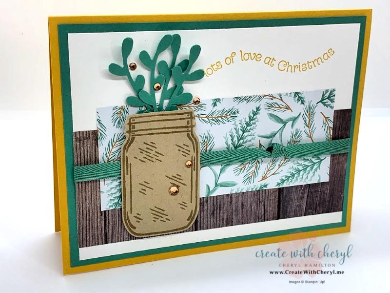 Christmas Jar of Flowers Card
