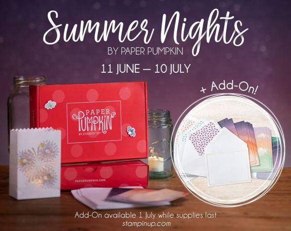 Summer Nights Paper Pumpkin July 2020
