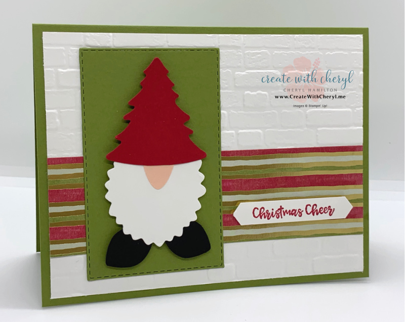 Handmade Christmas Card with Gnome