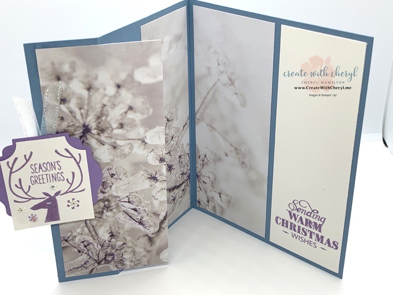 Handmade Christmas Card frosty branches