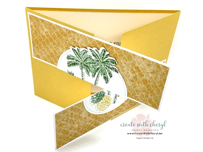 Timeless Tropical Split Fold Card