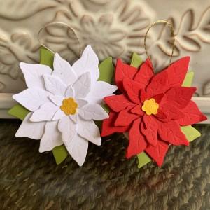 Poinsettia Petals Ornament