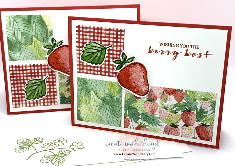 Sweet Strawberry and Berry Blessings Cards
