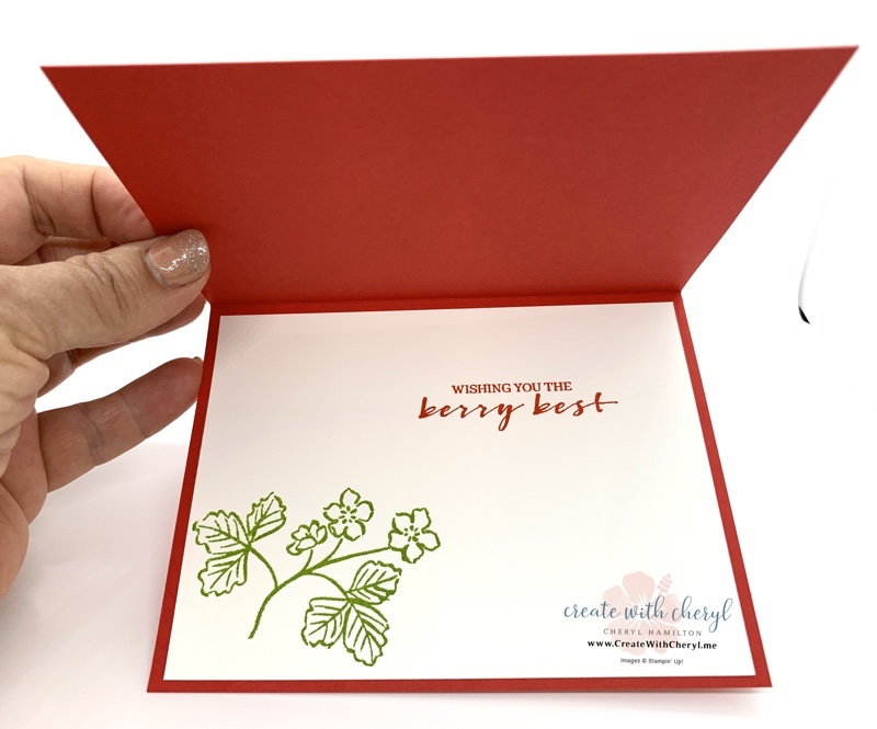 Sweet Strawberry and Berry Blessings Card