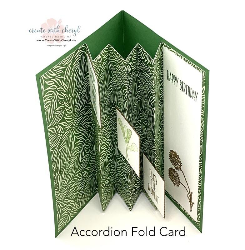 Accordion Fold Card #cherylhamilton