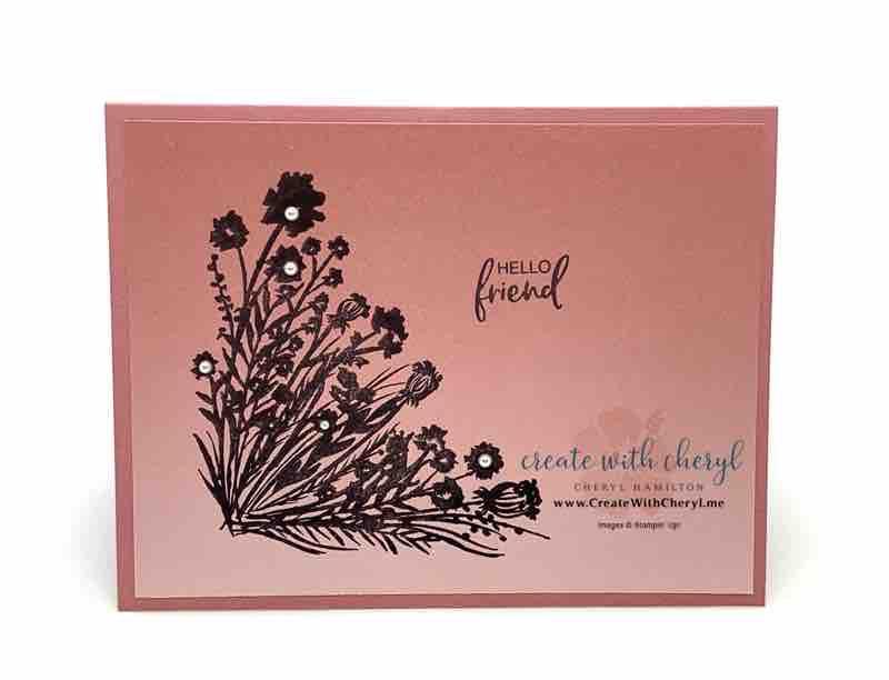 Corner Bouquet Explosion Card