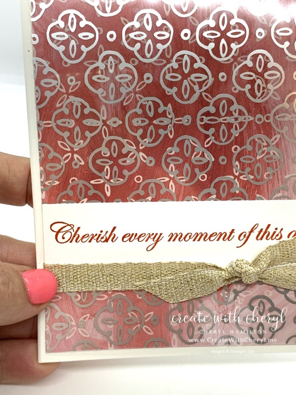 Forever Blossoms Wedding Card