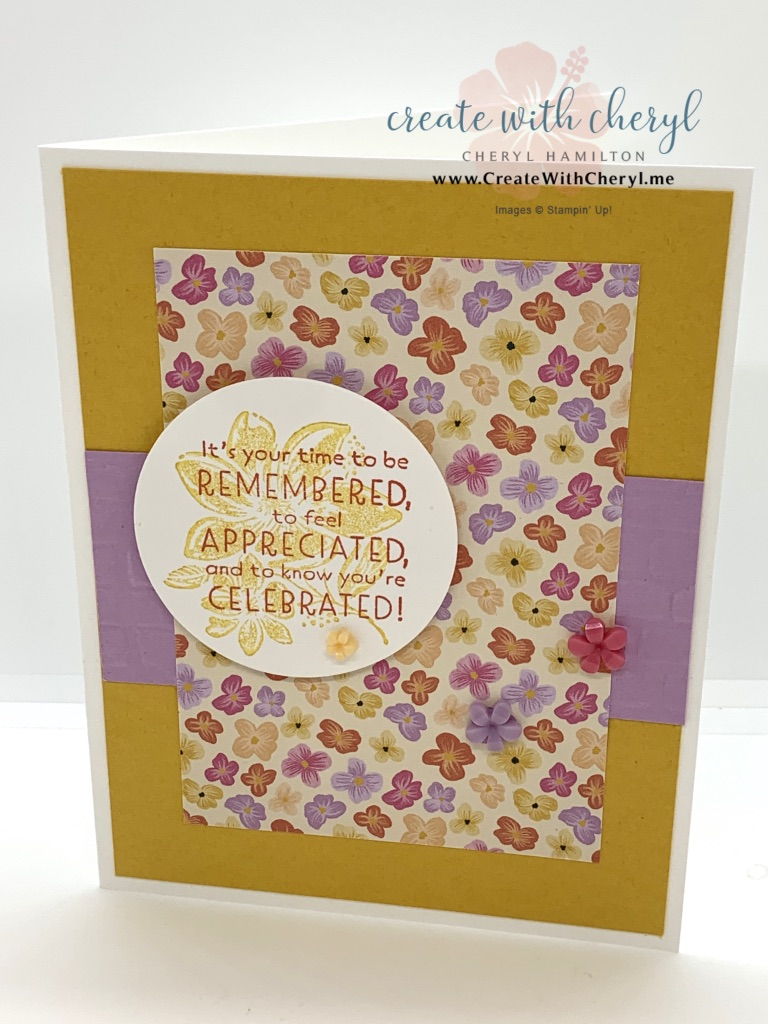 Pansy Petals DSP using Inspired Thoughts Card