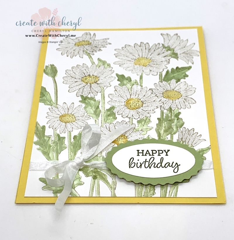 Daisy Garden Card Cheryl Hamilton