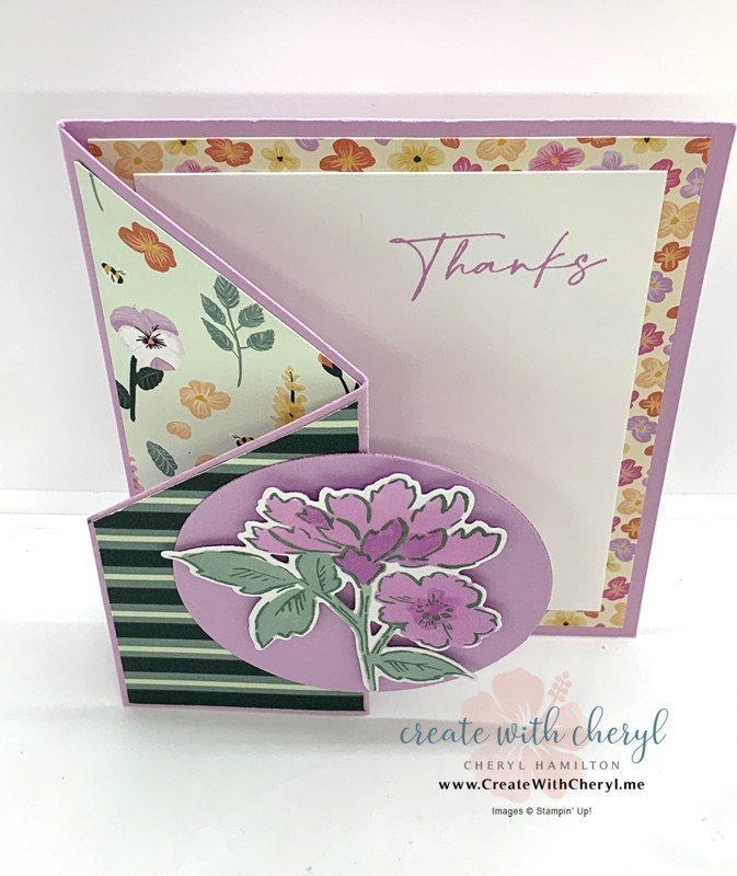 Hand-Penned Petals Trifold Card