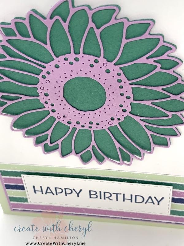 Sunflower Card Cheryl Hamilton