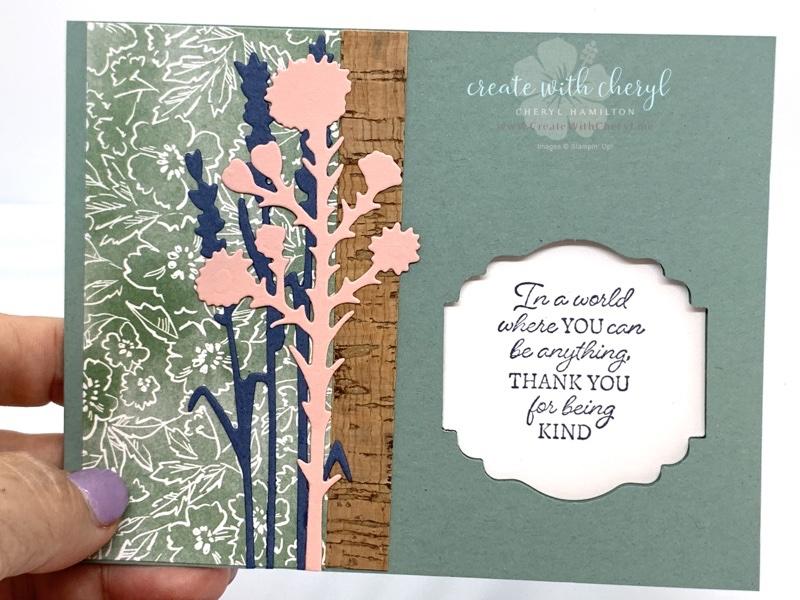 Soft Succulent Window Card