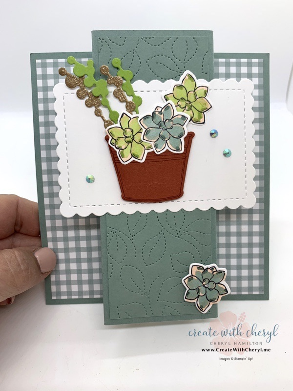 Center Pop-Out Card with Simply Succulents