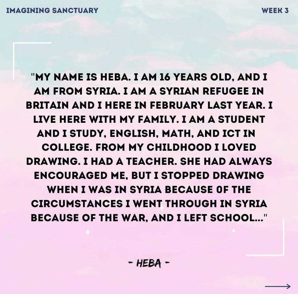My name is Heba. I am 16 years old, and I am from Syria. I am a Syrian refugee in Britain.