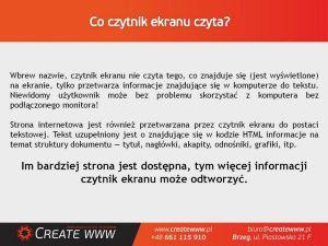 dostępności serwisów internetowych w administracji publicznej