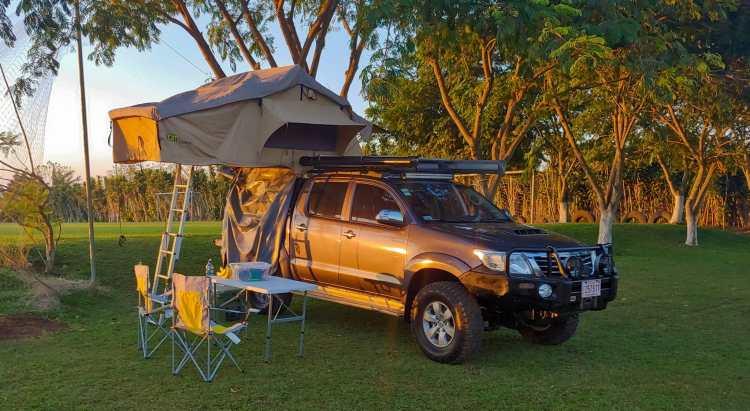 First campsite overlanding in Costa Rica