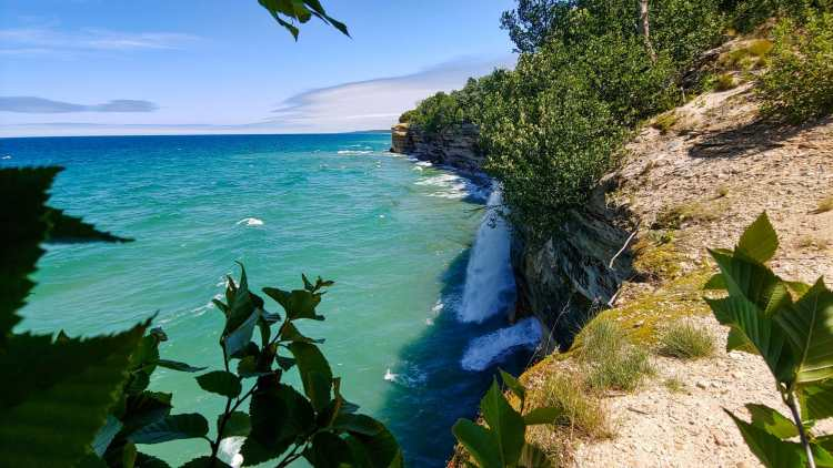 Spray Falls at Pictured Rocks