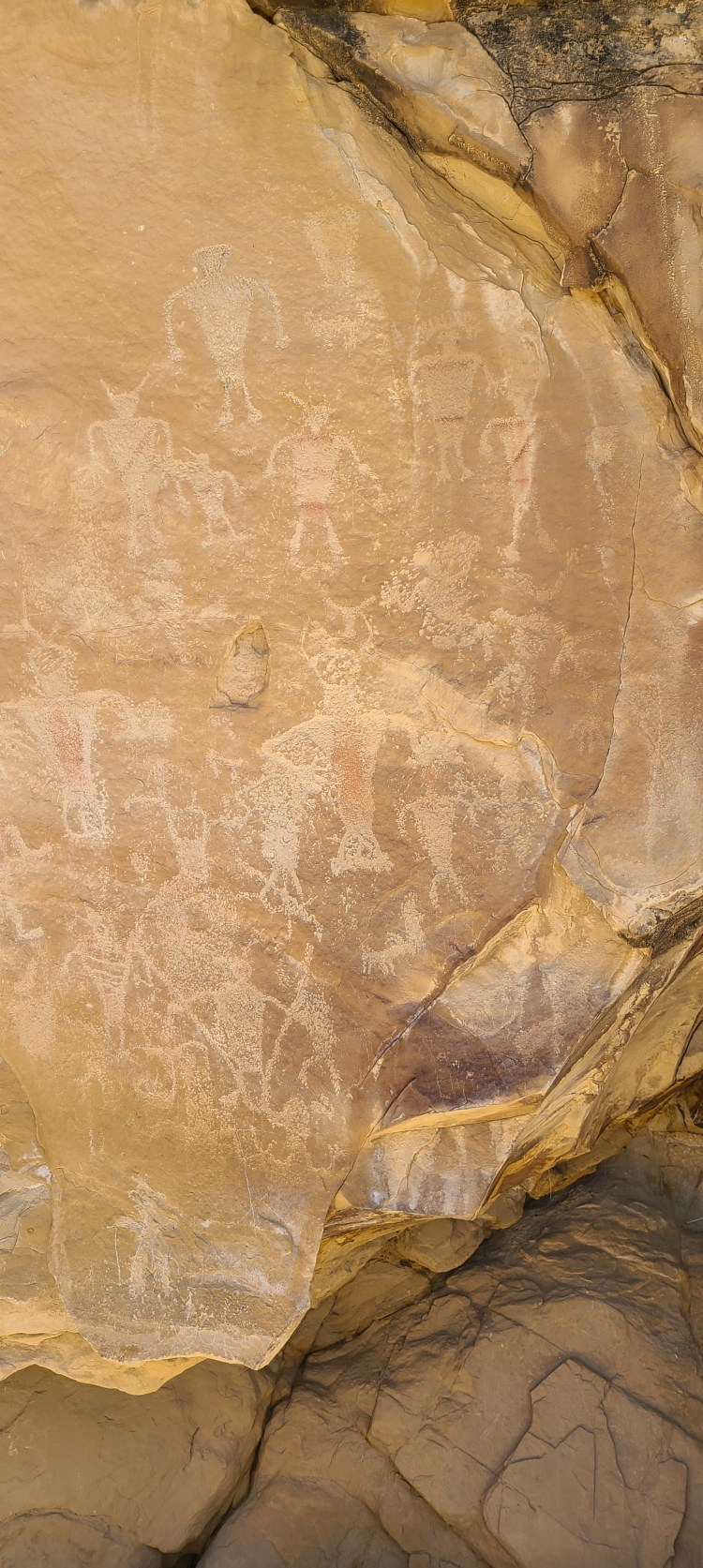 Petroglyphs at Swelter Shelter in Dinosaur National Monument