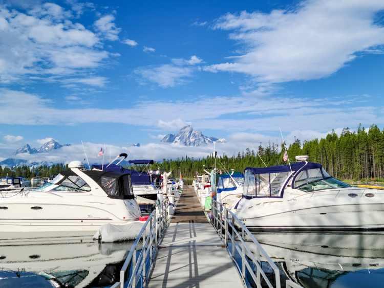 Colter Bay Marina Grand Tetons Wyoming