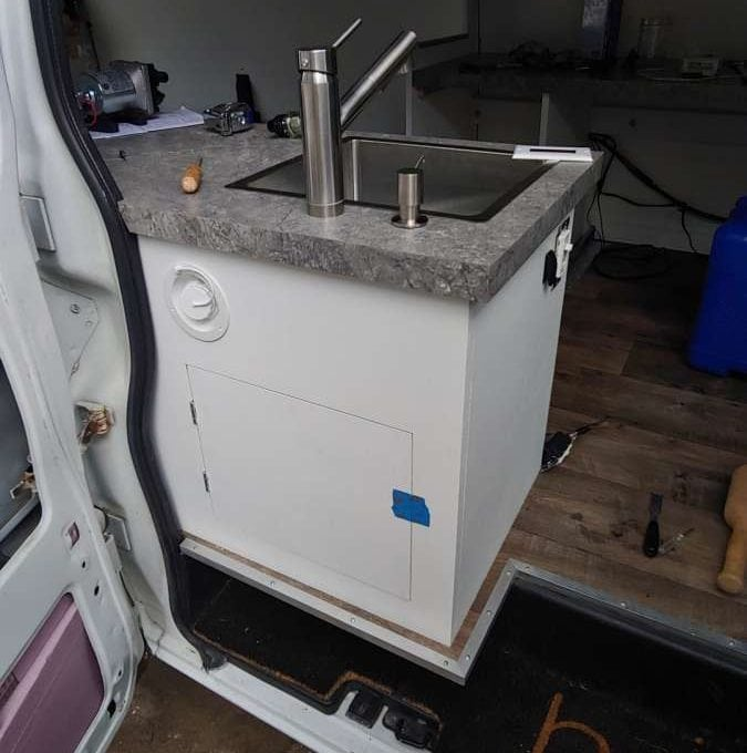 Campervan Water System Fill Port and Sink