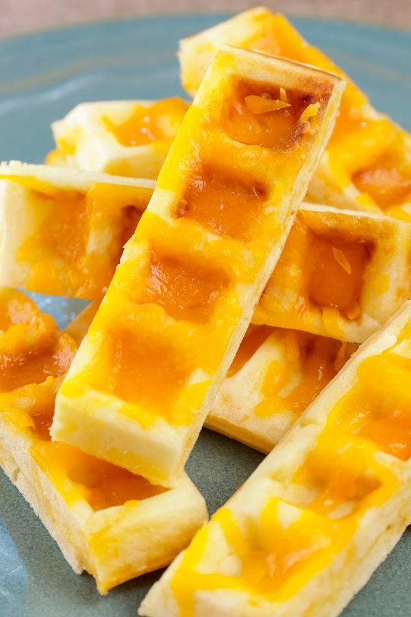 Garlic Bread Cheese Waffle Sticks
