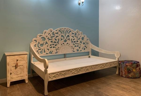 furniture warehouse day bed hand carved