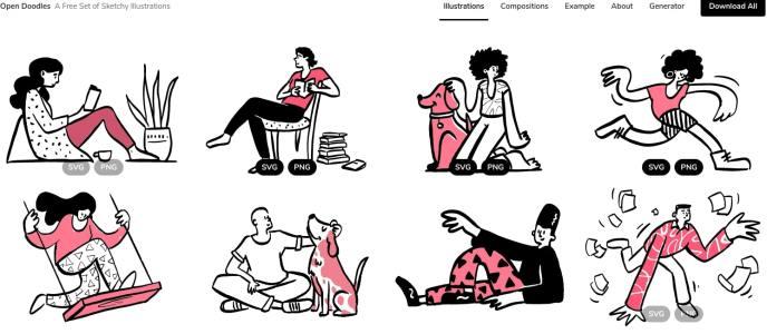 Open Doodles -- Free sketchy illustrations